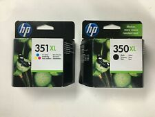 2 original HP Tintenpatronen HP 351XL Color CB338E / HP 350XL Black CB336E 2018