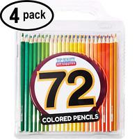 Best Colored Pencils - 72 Coloring Pencil Set w/ Case - Artist Quality - 4 PACK