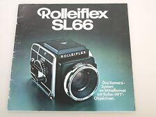 Rolleiflex SL66 Prospekt Das Kamerasystem im Mittelformat mit Rollei-HFT-Objekti