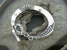 Armspange Armband Handschelle  mit Tribal Krone Silber 925 Silberarmspange