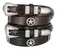 Silver Star Western - Oil Tanned Genuine Leather Casual Jean Ranger Belt