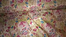 tissu coton popeline fleurs vente au metre