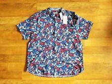 "TOMMY BAHAMA men's medium ""BOTTICELLI TOSS"" cotton blend stretch shirt"