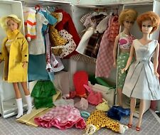Vintage Barbie Doll Lot & Case With Clothes Lot
