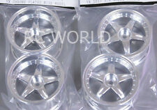 RC Car 1/10 RIMS WHEELS Package Kawada 5 STAR STAGGER  CHROME  SET OF 4