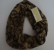 Womens Michael Kors Brown Camel Warm 100% Acrylic Infinity Loop Muffler Scarf