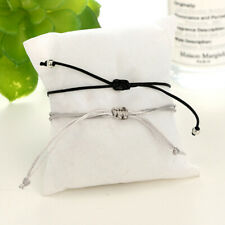Bohemian Shell Bracelet Minimalist Rope Mini Heart Charm Chain Bangle Jewelry Z