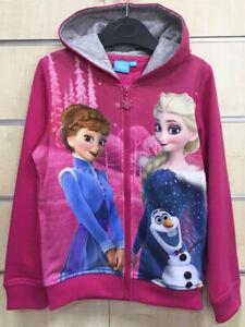 Frozen Elsa Anna Kapuze Reißverschluss Jacke Pullover Mädchen Rosa Kinder
