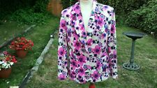 Gorgeous Floral Lightweight Jacket/ Pinks/ purples- PER UNA- 14