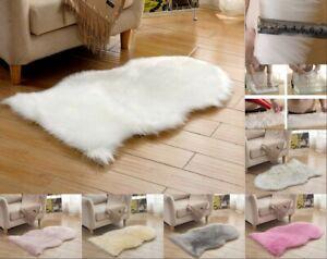 2019 Sheepskin Shearling Fur Bedside Rug Faux Fur 60x90 60x120 DE