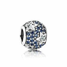 Authentic Pandora Charm S925 ALE Follow The Stars Midnight Blue 791382CZ
