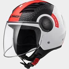 CASCO JET LS2 OF562 AIRFLOW L WHITE BLACK RED - TAGLIA L - 0671005/L
