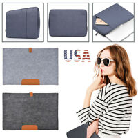 Laptop Soft Sleeve Bag Case Pouch For DELL HP ACER ASUS LENOVO MACBOOK SONY US
