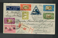 1934 Batavia Netherlands Indies Airmail Cover Stockholm Sweden