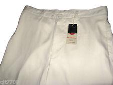 NWT Mens Silk Cotton Cream Khaki Pants Pleated Nice Casual Dress Golf 36 x 34