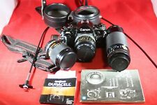 Vintage Canon A-1 35mm SLR Camera and 3 Lenses