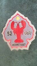 Moswetuset Lodge #52 Boy Scout OA  Patch Grey  Patch Red Lobster TU5