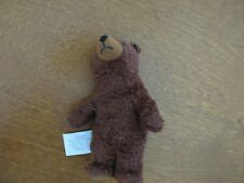 """plush brown bear candlewick press we're going on a bear hunt 2001 6"""" book"""