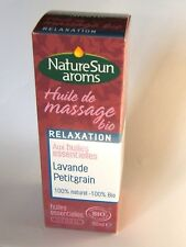 NatureSun Aroms - Huile de Massage Relaxation Bio - 50 ml