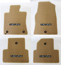 New! 2009-2013 Acura TL Tan Carpet Floor Mats 4pc Set Embroidered Logo All 4