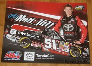 2015 Matt Tifft ToyotaCare Tundra NASCAR CWTS postcard
