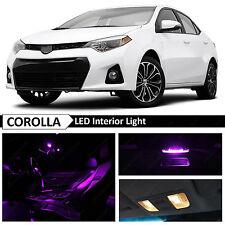 2015 & up Toyota Corolla Fuchsia Purple Interior LED Light Package Kit