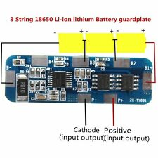 3S 6A Li-ion Lithium Battery 3.7v 18650 Charger Batterie Protection Board 10.8V