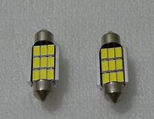 2 x BOMBILLAS LED C5W 9 SMD 36MM BLANCO CANBUS MATRICULA BULBS WHITE BOMBILLA