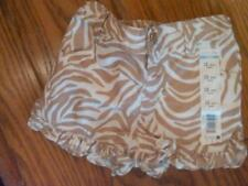 NWT INFANT GIRLS SUPER CUTE GOLD AND WHITE SPARKLY RUFFLED LEG SHORTS 12 MONTHS