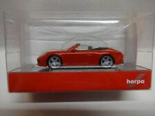 Herpa 028844 Porsche 911 Carrera 2 Cabrio indischrot rot 1:87 Neu