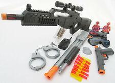 3x Toy Guns Special Forces Rifle Pump-Action Toy Shotgun & Colt .45 Dart Gun Set
