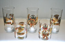 "VINTAGE ""CULVER"" CHRISTMAS BAR WARE GLASSES, HIGHBALL, DOUBLE OLD FASHIONED"