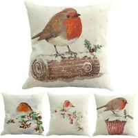 Christmas Cotton Linen Sofa Car Home Room Waist Cushion Cover Throw Pillow Cases