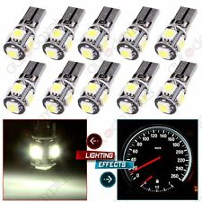 10Pcs Canbus 194 168 T10 5-5050-SMD LED White Light Bulb License Plate NO ERROR