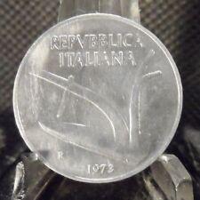 CIRCULATED 1973 10 LIRA ITALIAN COIN (81518)1.....FREE DOMESTIC SHIPPING!!!!!