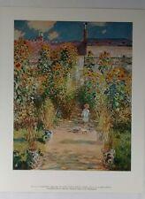 Claude Monet The Artist's Garden at Vetheuil Art Print