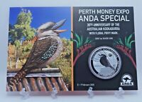 2020 $1 Silver Proof Coin Perth Money Expo ANDA 30th Anniv Australian Kookaburra