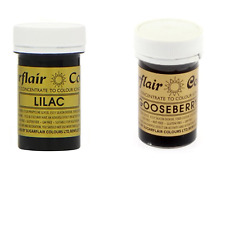 Sugarflair Paste Gel Edible Food Colouring Colours Icing - Lilac & Gooseberry