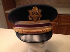 United States Military Hat Cap Army Officer Worn Visor Flight Ace Size 7 1/8