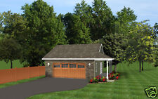 Custom Garage Plan 30'x30' 720 SF Ranch Blueprints 0961