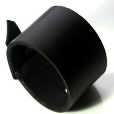 Top quality black Leather Cuff Wristband Bracelet adjustable-Handmade in the UK