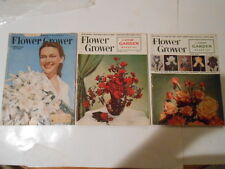 3 FLOWER GROWER MAGAZINES (AUGUST 1949,FEB.1954,JUNE 1955) RARE N COOL
