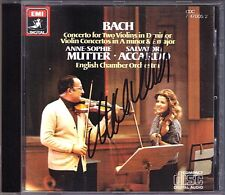 Anne-Sophie MUTTER Signiert BACH Violin Double Concerto Salvatore ACCARDO EMI CD