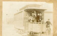 ANTIQUE ELECTRIC STREETCAR CABLECAR STATE? NO SMOKING SIGN BICYCLE EARLY PHOTO