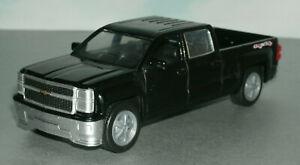 1/43 Scale 2014 Chevy Silverado LTZ Crew Cab Diecast Pickup Truck New-Ray Black