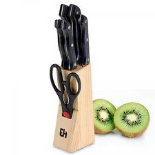 Juego de cuchillos con soporte madera Bravissima Kitchen (6 piezas) - Ir-shop