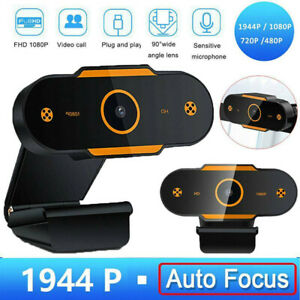 Full 1080P Autofocus HD Webcam Web Camera with Microphone USB for PC Laptop UK