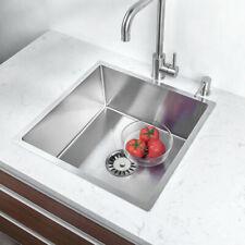Évier de cuisine en acier inoxydable éviers sous plan lavabo simple de cuisine