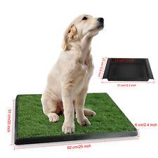 3-Layer Dog Pet Potty Grass Training Pee Pad Tray House Toilet Mat W/Tray Indoor