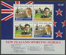 NEW ZEALAND 1990 HEALTH ATHLETICS & RUGBY Souvenir Sheet